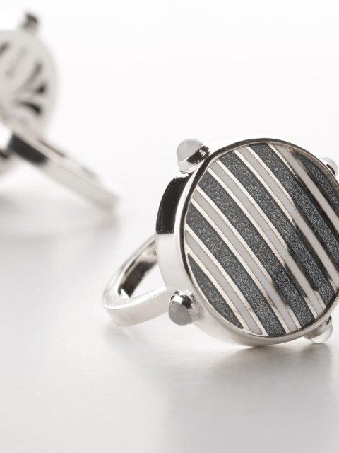 Silver Ring, Enamel Ring